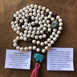 Handmade Mala Necklace~Healing Crystals/Meditation